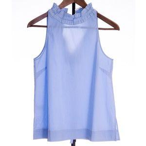 Ann Taylor Sleeveless Ruffle Shirt